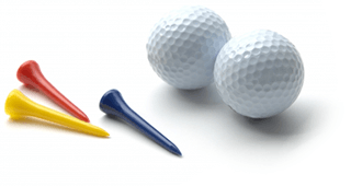 ゴルフボールとピン